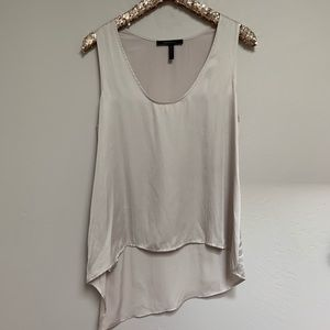 BCBGMaxazria Lola High Low Tank Top in Taupe
